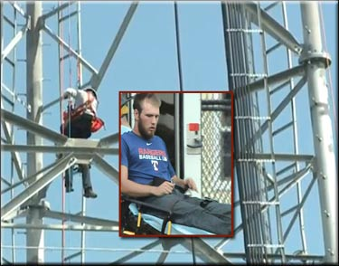 Texas tower climber rescued in Florida