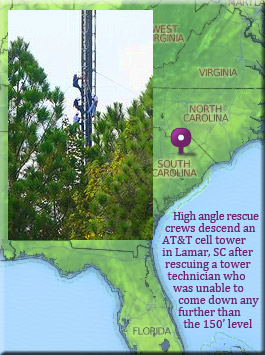 Successful ATT tower rescue in South Carolina
