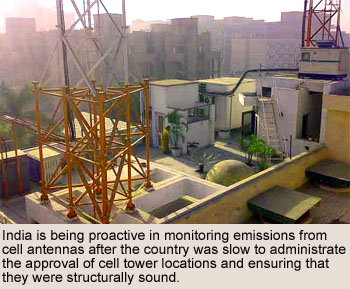 Cell Sites on Rooftops in India