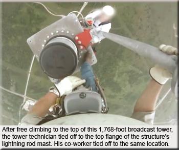 Free Climbing On Tower