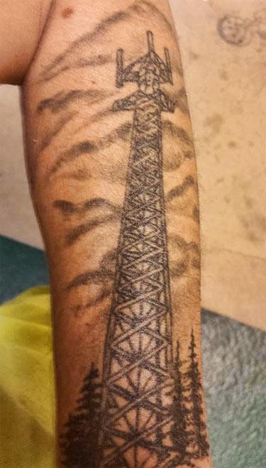 tower climber tattoos
