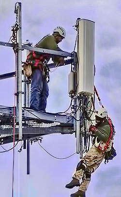 Cell tower tech rescued in Spokane, Washington