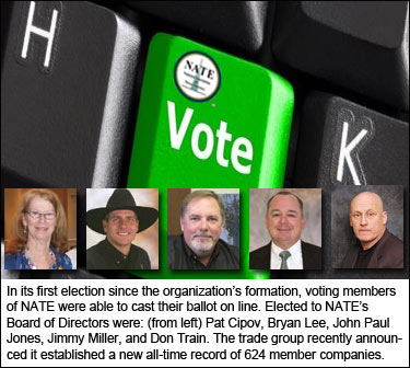 Board of Directors election results announced by NATE