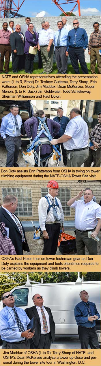 OSHA witnesses first hand the dangers facing the nation's tower climbers