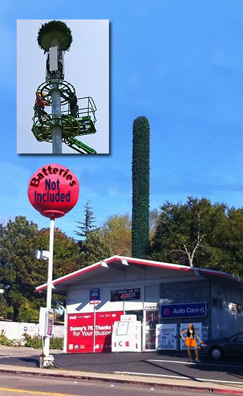 Phallic cell tower required to be re-skirted by T-Mobile