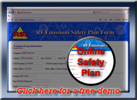 Online RF Safety Plan