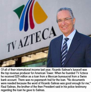 Ricardo Salinas provides the major international revenue to American Tower Corporation