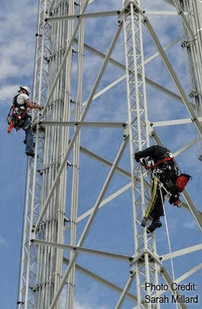 SBA assists in ensuring that firefighters can perform rescues on communications towers