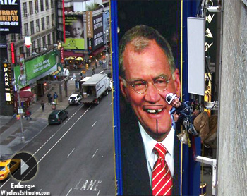 David Letterman Tower Climber