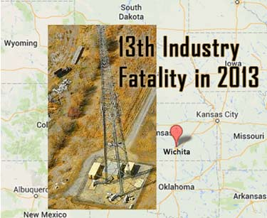 Tower tech dies after a 60-foot fall off of a tower in Kansas