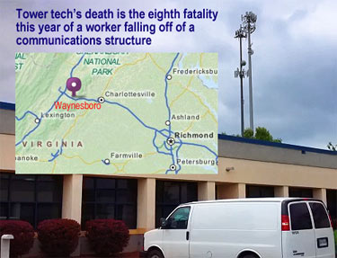 Virginia tower tech death is the eighth one in 2013.