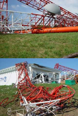 KETV Broadcast Tower Collapse