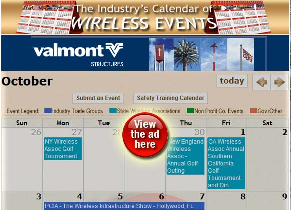 Wireless Events Calendar