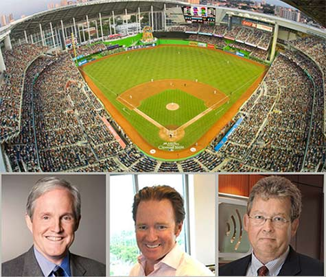 ExteNet Systems, which has a number of valuable DAS systems such as the one in Marlins Stadium in Miami, will have Ross Manire (from left) stay on as CEO. Marc Ganzi will become the company's Chairman of the Board. Jeffery Stoops, CEO, of SBA Communications backed away from acquiring ExteNet, but hit a home run for SBA, capturing a $150 million profit on its $43 million investment.