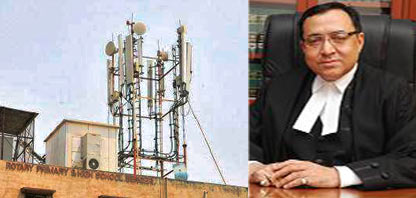 Justice Rajiv Sahai Endlaw said if residents would use their landlines they wouldn't have to worry about the proliferation of cell towers.