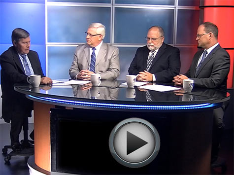 Pictured above during the TIA-produced video are, from left, Jim Maddux, Paul Roberts, John Erichsen and Scott Kisting.