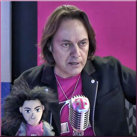 "John Legere, CEO of T-Mobile, said he wants to ""inflict pain on the duopoly""."