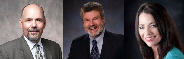 Jim Tracy, left, will serve as NATE's 6th Chairman. Assisting him will be Jim Miller, ViceChairman, and Kari Carlson, Secretary/Treasurer.