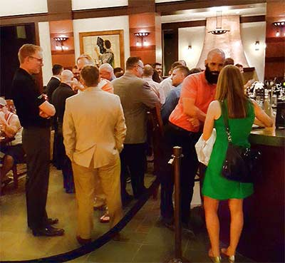Networking still continued following last night's closing reception.