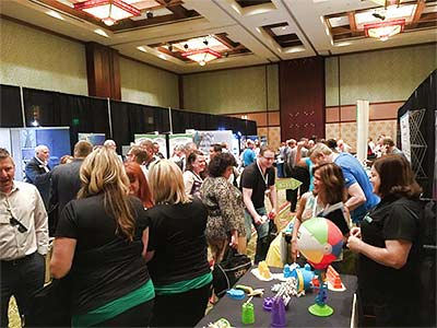 Exhibitors enjoyed a great turnout during the Anaheim conference