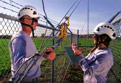 The video provides a number of important tower inspection tips.