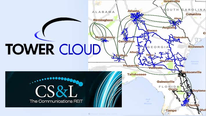CS&L will pick up Tower Cloud's extensive fiber-to-the-tower network in the Southeast