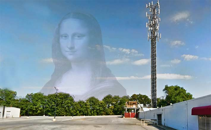 This Mona Lisa, a term coined by American Tower's CEO, Steve Dodge, about 20 years ago to identify a tower with multiple tenants, has a generator outside of its compound that the landlord states is there illegally. The U.S. District Court for the Western District of Virginia will make that determination.