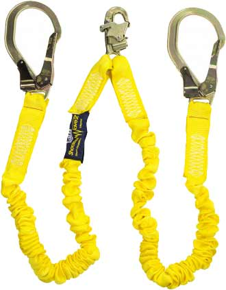 Capital Safety/3M said they would send a free twin leg lanyard as the one above to provide an interim safeguard.