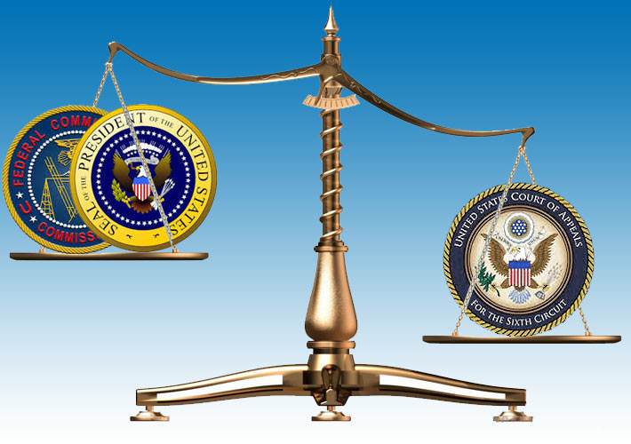 The FCC had been prodded by President Obama to strike down state laws restricting the growth of municipal broadband networks, but after the Sixth Circuit Court weighed in and stripped the FCC of its state law meddling.