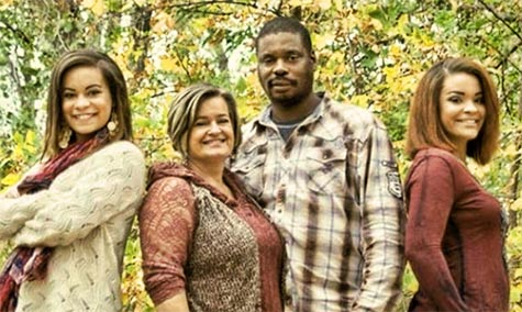 A Go Fund Me has been set up for Brandon Cartwright's wife, Mistee Simms, and her two daughters, Jossie and Trennary