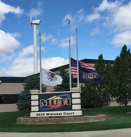 Flags at MUTI's corporate office were lowered to half mast in honor of Kyle Fulton