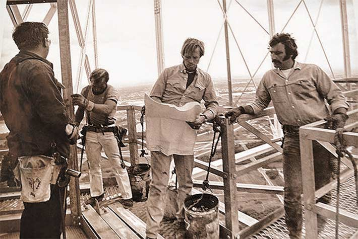 Don Barnard, at right, worked on the Shoreview tower. His brother, Wayne, was killed when the structure collapsed