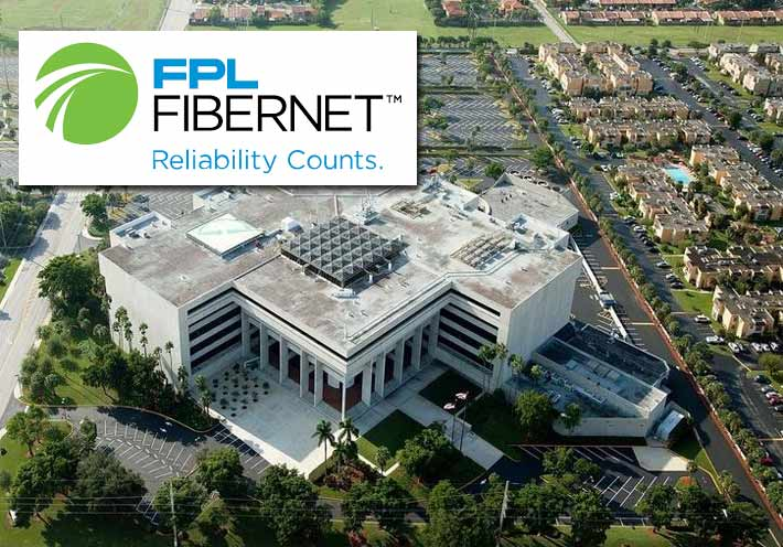FPL FiberNet's corporate offices are located at the Flagler Corporate Center on West Flagler St., Miami, Fla. The building used to be the headquarters for Florida Power and Light.