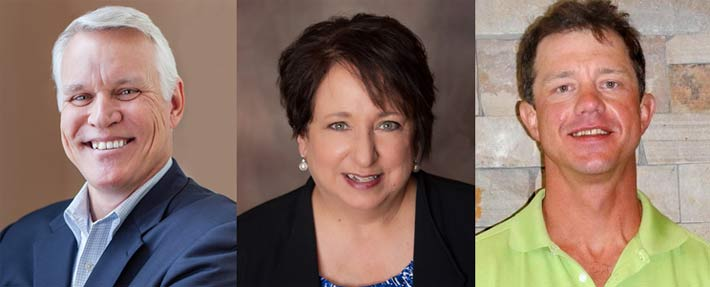 Duane MacEntee (from left) will fill the role of the National Wireless Safety Alliance's Executive Director; Shelly Trego as Executive Administrator; and Clint Cook as Practical Examiner Accreditation Program Instructor.