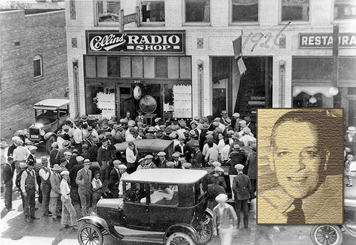 "Although it was apparent that AM radio was a must-have enjoyment, as this crowd of 1926 World Series listeners in Los Angeles would have attested to, three years later author and commentator Jack Woodford (inset), who saw radio as ""just another disintegrating toy,"" said in another two years ""it will be as dead as a Democrat"". Approaching nine decades later, FCC Chairman Ajit Pai said that radio has well outlived Woodford's prediction and ""is as alive as this Republican""."