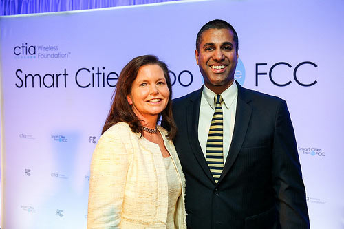 Just when auction fever seemed to be cooling down, CTIA President and CEO Meredith Attwell Baker is lobbying FCC Chairman Ajit Pai to begin another one. Pai was FCC Deputy General Counsel when Baker served as a Commissioner for two years.