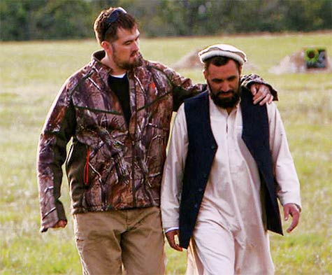"Marcus Luttrell later reunited with his rescuer, Mohammad Gulab. Luttrell added a little levity to his presentation, stating, ""Normally I don't shoot people in the back, but I was having a bad day."""