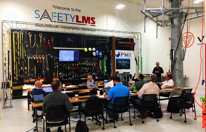 Scott Kisting discusses how the WIA will assist in further TIRAP's efforts as the association's national sponsor. TIRAP held meetings Tuesday and Wednesday at Safety LMS's new facility in Austin, Tex.