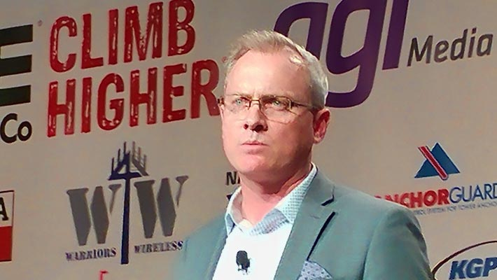 T-Mobile Director of Technology & Engineering Policy John Hunter made the announcement of the carrier's generous contributions to the Tower Family Foundation and Warriors 4 Wireless