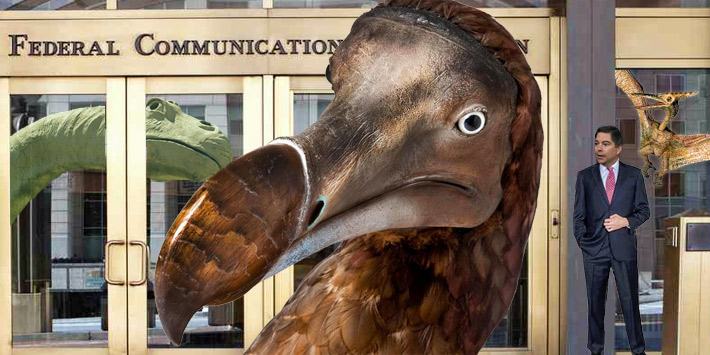 FCC Commissioner Michael O'Rielly's opening speech during a panel session at the NAB convention yesterday questioned whether the FCC should go the way of the Dodo Bird or dinosaur and be 'fired'.