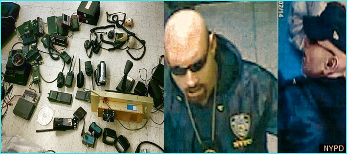 Two of the men posing as police and robbing drivers were identified on security cameras. Police found a cache of electronics and other equipment, including 15 portable radios, nine scanners and nine handheld microphones in one of the suspects' homes. One of the men, Jay Peralta, was fined $404,166 by the FCC, but that's the least of his worries.