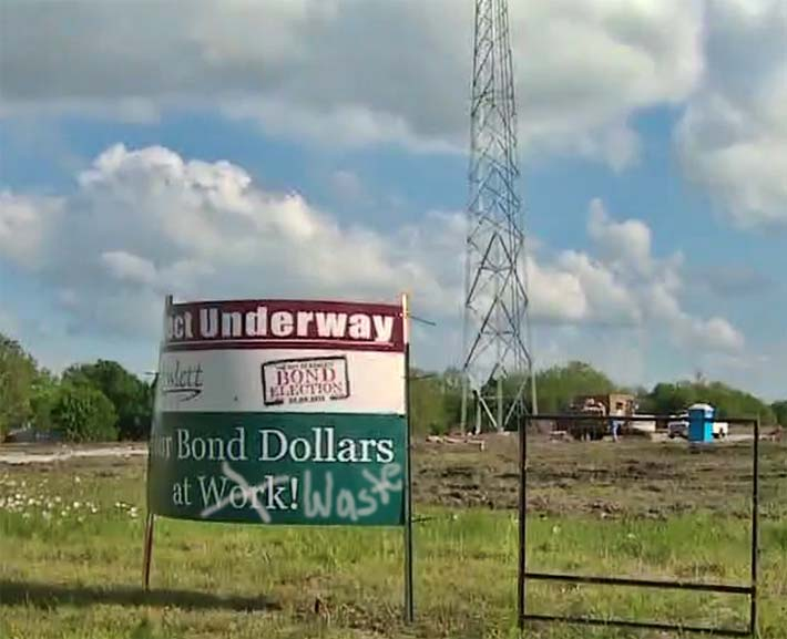 The city of Rowlett was proud that the structure would be paid for through bonds, but was ploughed under with a $478,000 mistake.