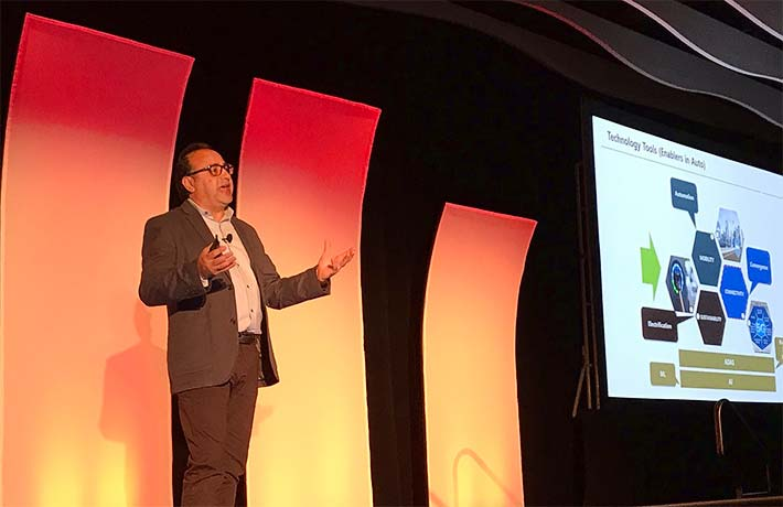 The opening keynote was by Henry Bzeih, Managing Director Connected & Mobility Kia Motors America, who discussed how autonomous vehicles are paving the way alongside obstacles.