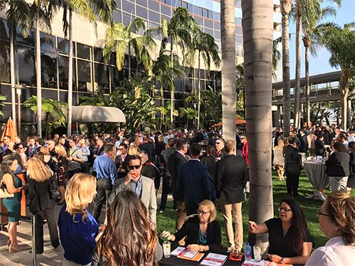 Md7's opening reception provided excellent opportunities for networking at the Wireless West 2017 Conference.
