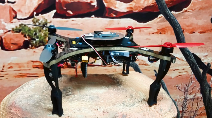 Flights and measurements collection were performed by a custom-designed quadrotor drone, the 390QC
