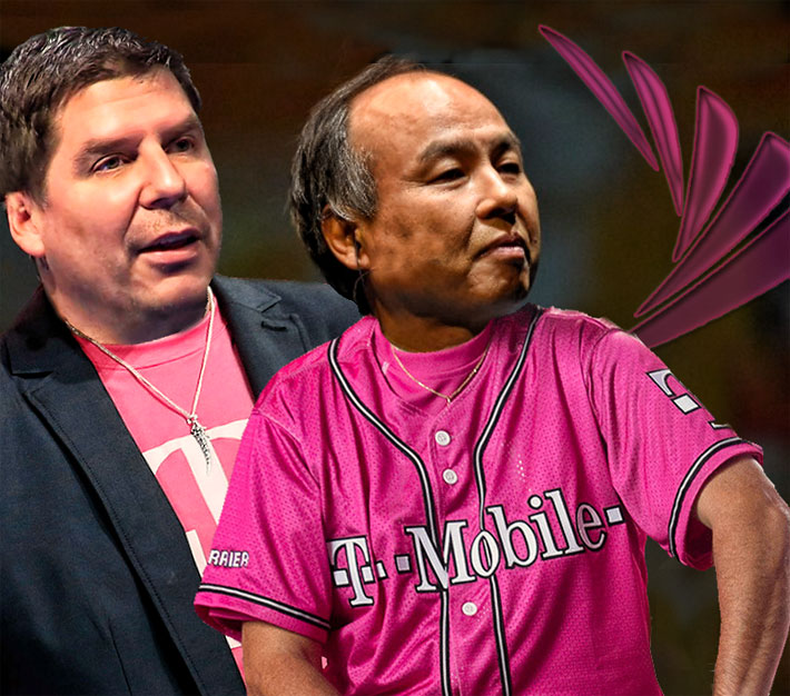 Sprint CEO John Legere and SoftBank CEO Masayoshi Son are showing their true colors