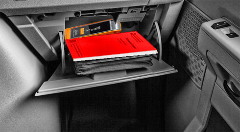 The 'Little Red Book' fits easily into a glove box for easy reference. They are being provided free of charge.