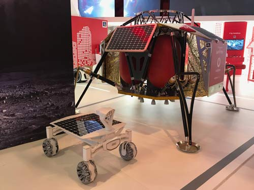 A Mobile World Congress attendee in Barcelona said, I was standing in front of Vodafone's lunar module at MWC listening to their pitch when you published your article. Perfect timing. ""