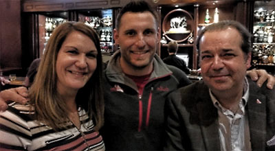 Pictured during a STAC social were (l. to r.) Jeanne Piercey, Pier Structural Engineering Corp.; Craig McLellan, Nouvelle Hauteur Inc. and Rick Tiller, Tiller Engineering Inc.