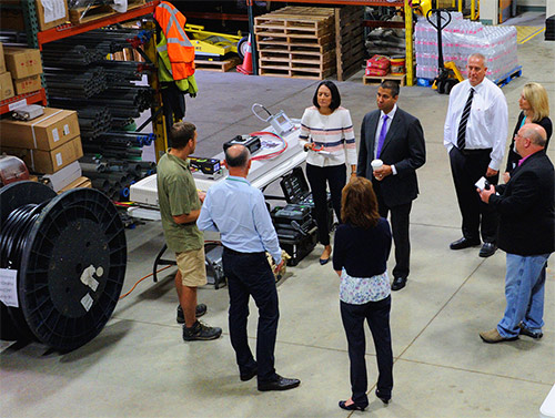 While visiting Green Mountain Communications' corporate office and warehouse, Chairman Ajit Pai became aware of the integral role that contractors play in successfully rolling out 5G, and the extensive carrier-required inventory and equipment that contractors must maintain.